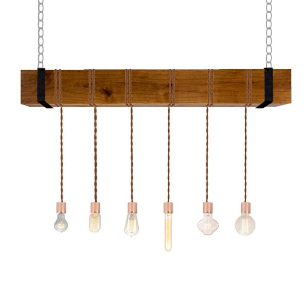 Variety Watt Faux Beam Chandelier